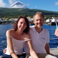 Jens L. mit Frau Ramona (selbst Segler & Skipper, zum 1. Mal bei PAGOMO an Bord